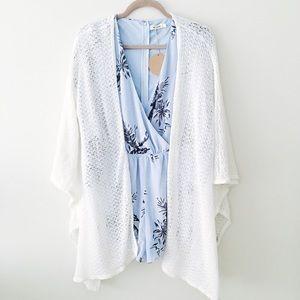 Sweaters - white open cardigan
